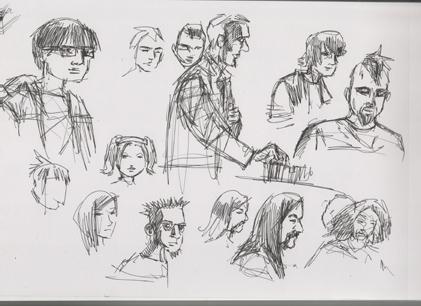 Idle sketchings