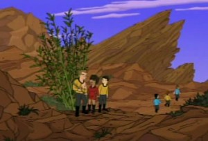 Planet of The Vasquez Rocks on Futurama
