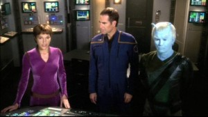 Gratuitously sexy vulcan, Sam Beckett and blue dude - Enterprise had it all