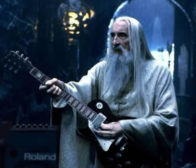 Forget the voice of Saruman, listen to the riffs